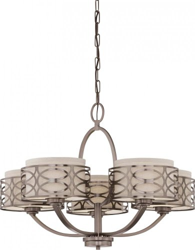 Nuvo 60/4725 Harlow Hazel Bronze Five Light Chandelier