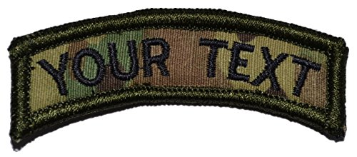 Read About Custom Text Tab Patch W/velcro - Military/morale
