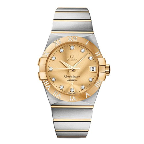 Omega Constellation Gold Dial Co-axial Automatic Winding Diamond Back Cover Skeleton K18yg / Stainless 123.25.38.21.58.002 Men Watches (Omega Skeleton compare prices)