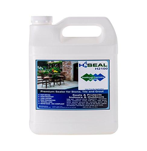 Serveon Sealants H2Seal H2100 Stone Sealer - Professional Grade for Natural Stone, Grout, Brick, Tile and Artificial Stone (1 Gallon, Stone Sealer) (Concrete Sealer Remover compare prices)