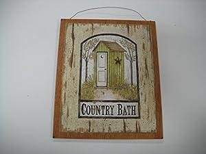 Country bath outhouse sign wooden bathroom for 9x11 bathroom ideas
