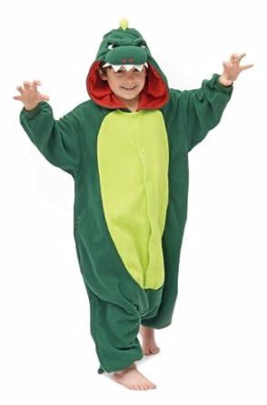 Kids Onesie - Genuine Animal Kigurumi For Children - Boys & Girls - Great All In One Fancy Dress Childs Halloween Costume - Cat - Chicken - Cow - Dalmation - Dinosaur - Giraffe - Seal - Skeleton - Tiger - Turtle (Dinosaur)