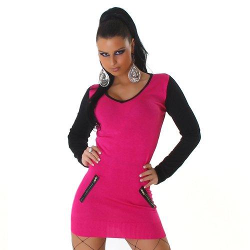 Jela London Damen Langarmshirt Pullover V-Ausschnitt Einheitsgröße 32,34,36,38 verschiedene Farben