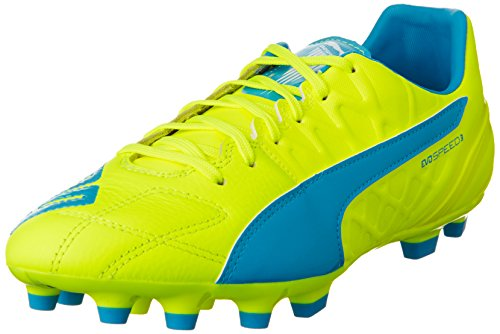 puma-evospeed-34-lth-artificial-ground-mens-football-training-shoes-green-safety-yellow-atomic-blue-