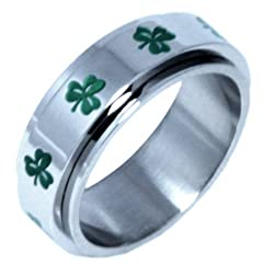 Irish Clover Spinner Ring luck of the irish clover clover ring irish green