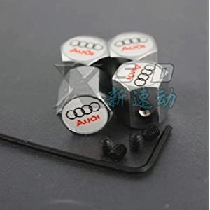 Audi Anti-theft Car Wheel Tire Valve Stem Caps