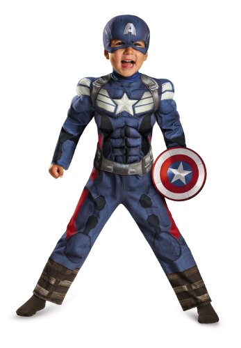 [Disguise Costumes 73358M Marvel Captain America The Winter Soldier Toddler Muscle Costume, Medium] (Captain America Boys Costumes)