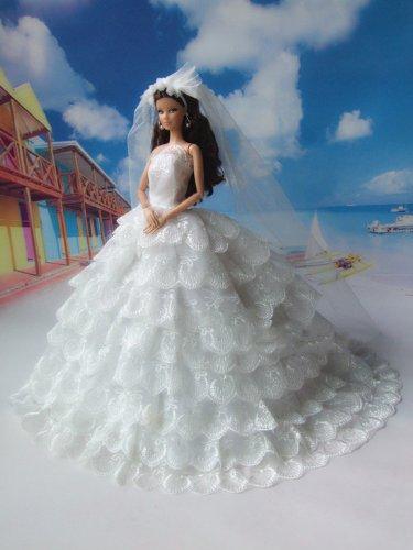 Как сделать свадебное платья для куклы