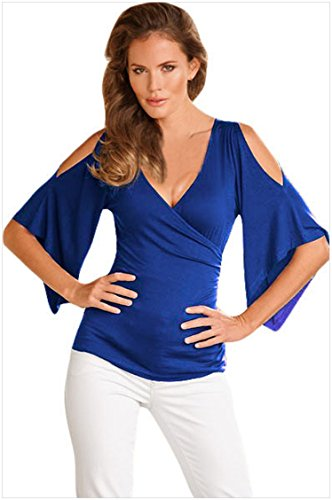 meinice V Collo Wrap manica fessura Blue Large