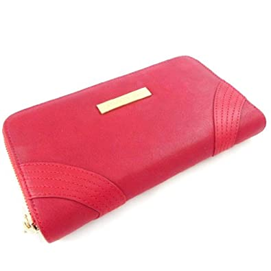 Large zip wallet 'Ted Lapidus' red.