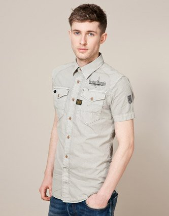 G-Star Lawrence Shirt - Grey - Mens