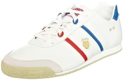 K-Swiss SI-16 02822-168-M, Herren Sneaker, Weiss (Classic White/Gravilla/Classic Blue/Red), EU 41 (UK 7)