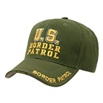 US Border Patrol Officer adjustable baseball cap green & yellow