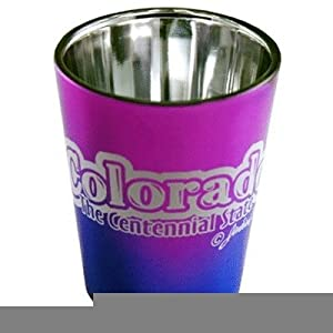 Colorado Shot Glass 2.25H X 2 W Electro Bubble Case Pack 60