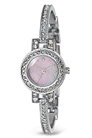 Round Face Dainty Diamanté Analogue Bangle Watch