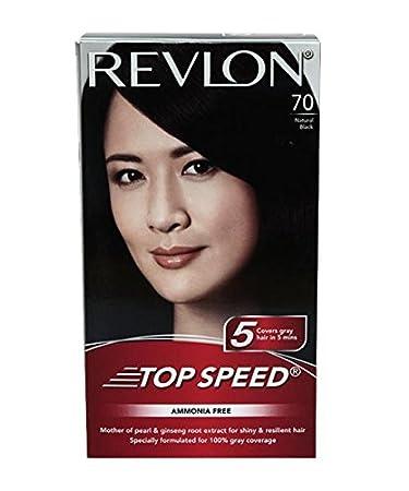 Buy Revlon Top Speed Hair Color Woman, Natural Black 70, 100 g ...