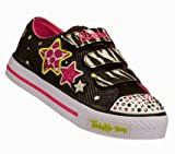 Skechers Girls / Kids Shuffles - Wild Starlight; Twinkle Toes, Casual Fashion Light Up Trainers / Shoes with Velcro Fastening- 10316L
