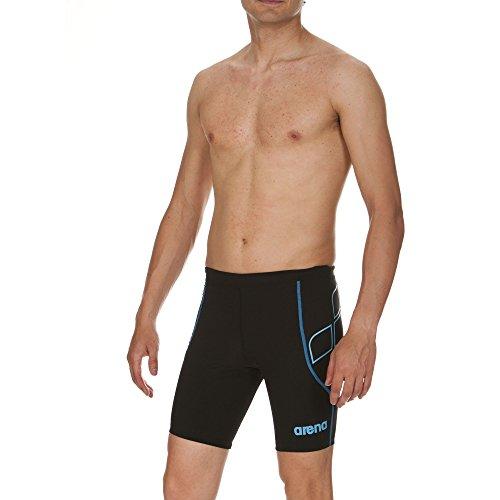Arena, Pantaloni corti da Triathlon Uomo Powerskin ST, Nero (Black/Turquoise), XL