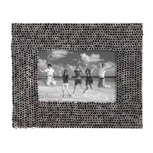"4x6"" Photo Frame Eco-friendly Natural Decorative Accent Recycle Newspaper Pap..."