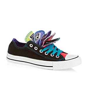 Converse Chuck Taylor Multi Tongue Ox Shoes - Black