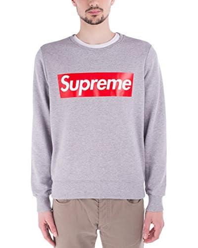 Supreme Italia Sweatshirt SUFE04 grau meliert