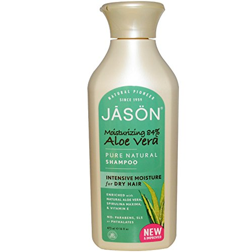 JASON All Natural Organic Aloe Vera Shampoo and Conditioner Bundle with Dry Hair Treatment ...
