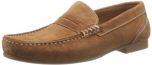 Sebago Men's TRENTON PENNY Loafer Flats, Brown - Braun (COGNAC SUEDE), 45 EU