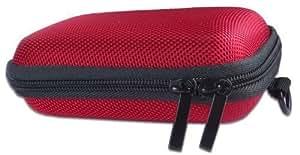 Bundlestar etui rouge pour appareil photo numérique Hard Case ROUGE (avec bandoulière et boucle de ceinture)
