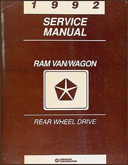 1992-dodge-ram-van-wagon-repair-shop-manual-original-b100-b350