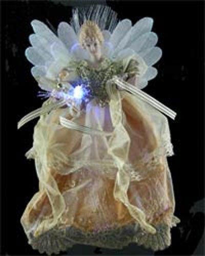 12 Inch Fiber Optic Angel Tree Topper [90410004]