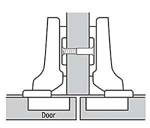 Blum CLIP top BLUMOTION Soft Close Hinges, 110 degree, Self Closing, Frameless, with Mounting Plates (Partial Overlay - 2 Pack) (Tamaño: Partial Overlay - 2 Pack (1 pair))