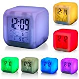 LED 7 Colour Changing Alarm Clock Thermometer