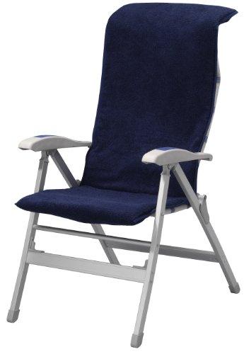 Campart matelas pour chaise de camping bleu marine - Chaise de jardin bleu marine ...