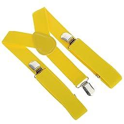 Vienna Kids Toddler Clip-on Suspenders Elastic Adjustable Braces