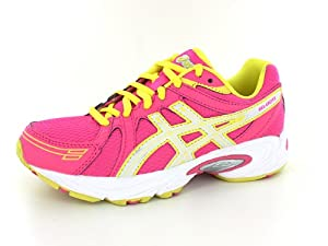 ASICS GEL-Excite GS Running Shoe (Little Kid/Big Kid),Hot Pink/White/Sun Yellow,4 M US Big Kid