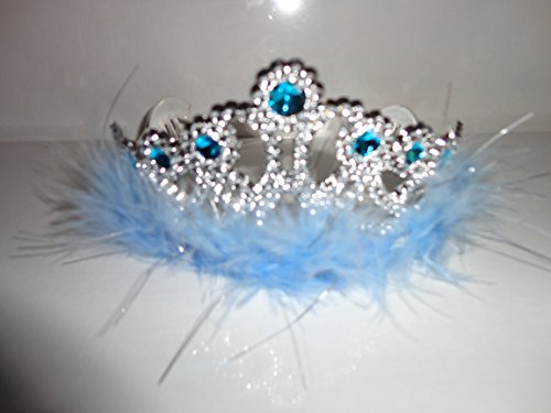 Princess Tiara Crown and Wand Set Frozen Elsa Cinderella Halloween Accessory