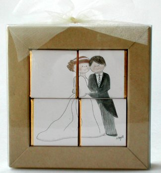 Chocolate Puzzle Wedding Favors - Formal Couple