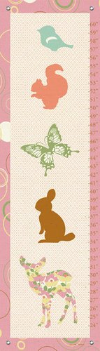 Oopsy Daisy Growth Charts Woodland Stack by Annette Tatum, 12 by 42-Inch