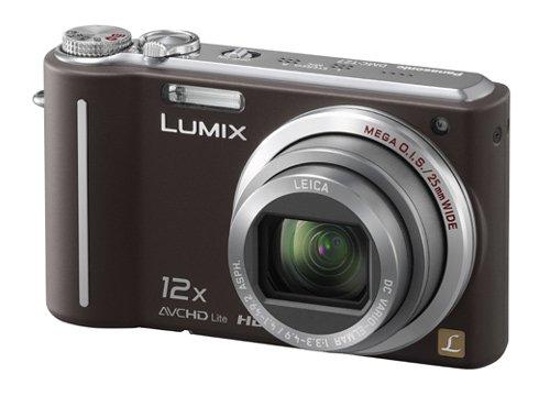 Panasonic Lumix TZ7 Digital Camera - Brown (10.1MP, 12x Optical Zoom) 3.0 inch LCD