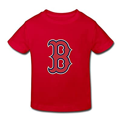 Ambom Boston Red Sox Little Boys Girls 100% Cotton T Shirt For Toddlers