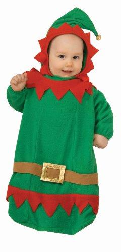 Forum Novelties Baby's Christmas Elf Bunting Costume, Multi, Infant