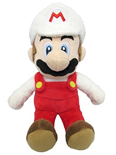 "Sanei Super Mario All Star Collection 9.5"" Fire Mario Plush, Small - 1"