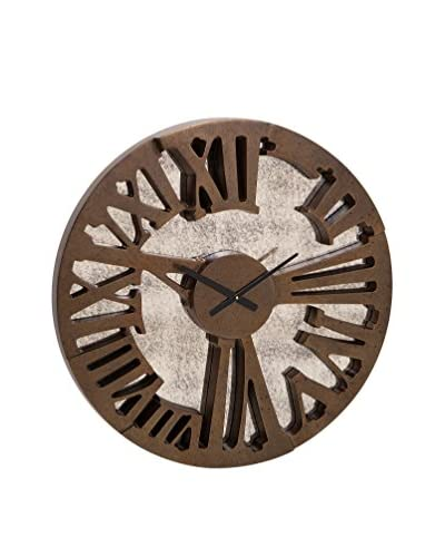 Beth Kushnick Antique-Inspired Mirror Wall Clock, Brown