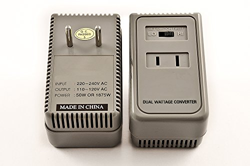 Simran 1875 Watts International Travel Voltage Converter For 110V USA Products In 220V/240V Countries. Ideal for Hair Dryers, Phone, iPod, Camera Chargers and Shavers Etc. Model SM-1875 (110 Volt Hair Dryer compare prices)