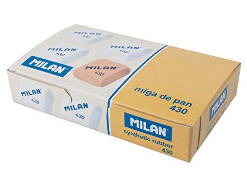 Milan 430 - Caja de 30 gomas de miga de pan, color blanco