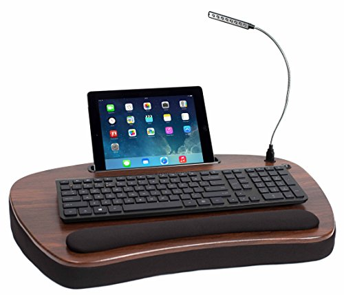Sofia Sam Oversized Wood Top Memory Foam Lap Desk With