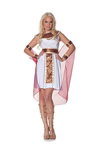 Underwraps Women's Jewel Of The Nile, White/Burgundy/Gold, X-Large (Jewel Of The Nile Costume)