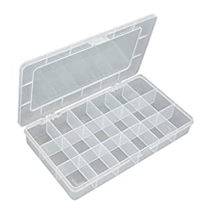Plastic 18-section Undetachable Multifunction Component Box Small Transparent