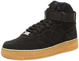 Nike Women\'s Air Force 1 HI Suede Basketball Shoes (7)