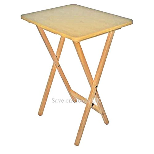 Wood wooden folding square travel side small table. Camping tv hobby garden